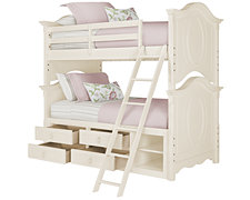 Victoria White Storage Bunk Bed