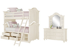 Victoria White Bunkbed Storage Bedroom