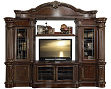 Regal Dark Tone Small Entertainment Wall