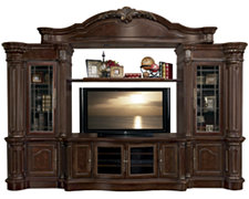 Regal Dark Tone Large Entertainment Wall