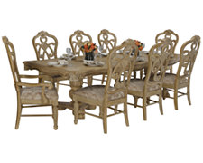 Regal Light Tone Rectangular Table & 4 Wood Chairs