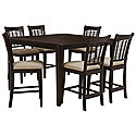 Dark Tone High Table & 4 Barstools