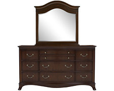 Avalon Dark Tone Dresser & Mirror
