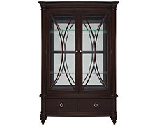 Carly Dark Tone China Cabinet