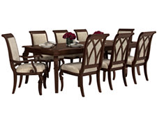Granada2 Dark Tone Rectangular Table & 4 Upholstered Chairs