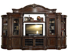 Regal Dark Tone Small Entertainment Wall with Corners