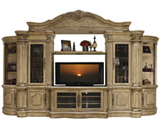 Regal Light Tone Small Entertainment Wall with Corners