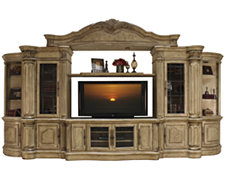 Regal Light Tone Large Entertainment Wall with Corners