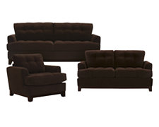 Cindy Dk Brown Microfiber Living Room