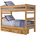 Mid Tone Storage Bunk Bed