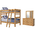 Mid Tone Bunkbed Bedroom