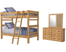 Cinnamon Mid Tone Bunkbed Bedroom