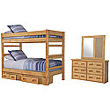 Mid Tone Bunkbed Storage Bedroom