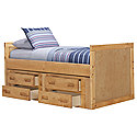 Mid Tone Panel Storage Bed