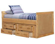 Cinnamon Mid Tone Panel Storage Bed
