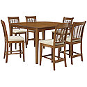 Mid Tone High Table & 4 Barstools