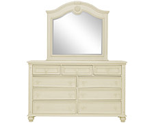 Claire White Arched Dresser & Mirror