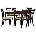 Dark Tone Rectangular Table & 4 Chairs