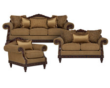 Ella Md Brown Fabric Living Room