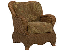 Mata Md Brown Woven Accent Chair