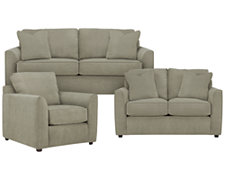 Express3 Lt Green Microfiber Living Room