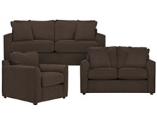 Express3 Dk Brown Microfiber Living Room