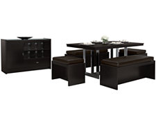 Brito Dark Tone Rectangular Dining Room