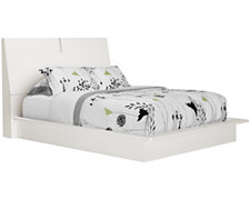 Dimora2 White Wood Platform Bed