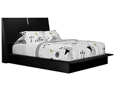 Dimora2 Black Wood Platform Bed