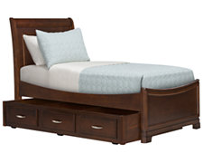 Kaya Mid Tone Sleigh Trundle Bed