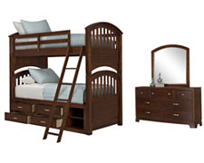 Kaya Mid Tone Bunkbed Storage Bedroom