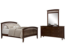 Amelia Dark Tone Panel Bedroom