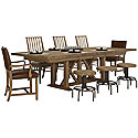 Light Tone Rectangular Table & 4 Stools
