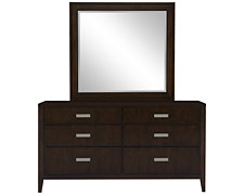 Pacifica Dark Tone Dresser & Mirror