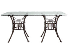 Denali Glass Rectangular Table
