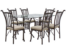 Denali Rectangular Glass Table & 4 Chairs