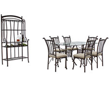 Denali Rectangular Glass Dining Room