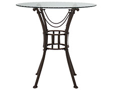 Denali Round Glass High Dining Table