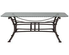 Denali Glass Rectangular Coffee Table
