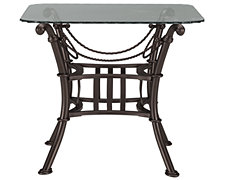 Denali Glass Square End Table