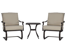 Naples Beige Outdoor Chat Set