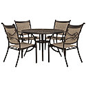 "48"" Round Table & 4 Sling Chairs"