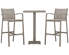 Lisbon Khaki Square Pub Table & 2 Barstools