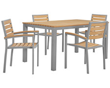 "Carmel Light Tone 60"" Rectangular Table & 4 Chairs"