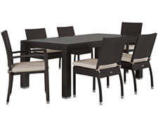 "Zen2 White 72"" Rectangular Table & 4 Cushioned Chairs"