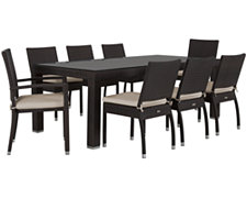 "Zen2 White 84"" Rectangular Table & 4 Cushioned Chairs"