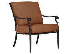 Naples Rust Cushioned Chair