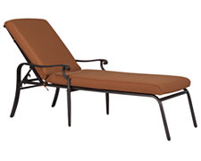 Naples Rust Cushioned Chaise