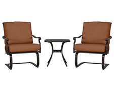 Naples Rust Outdoor Chat Set