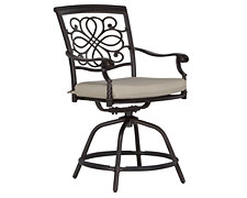 "Naples Beige Swivel 24"" Barstool"